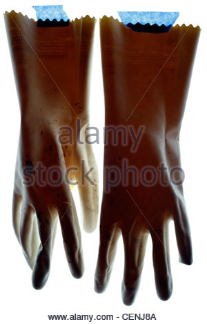 household working gloves - Stock Photo