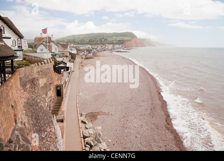 England Devon Sidmouth Views of seafront from near Connaught Gardens - Stock Photo