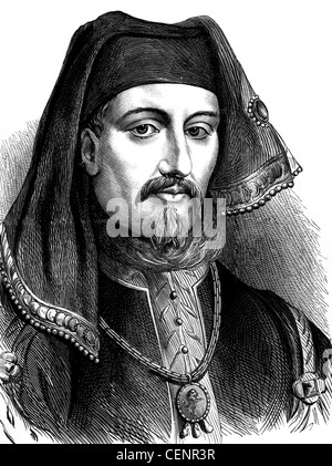 Henry IV (1367-1413) king of England from 1399 to 1413. Wood engraving end of XIX th century - London - Stock Photo