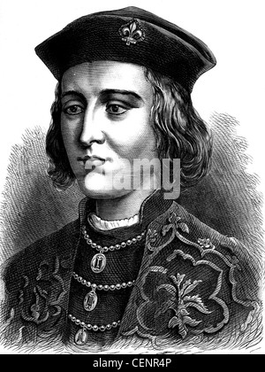 Edward IV (1442-1483) king of England from1461 Wood engraving end of XIX th century - London - Stock Photo
