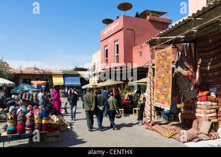 The Cafe des Epices in Rahba Kedima (Place des Epices), Medina, Marrakech, Morocco, North Africa - Stock Photo