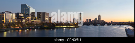 Buildings at the waterfront, Charles River, Boston, Massachusetts, USA - Stock Photo