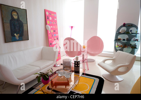 Home of furniture designer, Karim Rashid, in New York This Stock ...