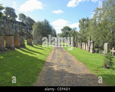 The Glasgow necropolis, Victorian gothic garden cemetery in Scotland - Stock Photo