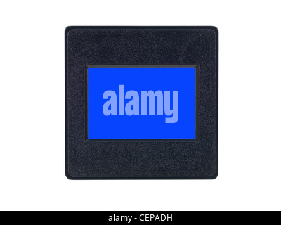 Photographic slides isolated against a white background