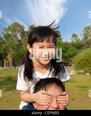 lovely little girl and her father - Stock Photo