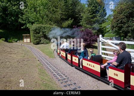 England Devon Beer Model steam train at 'Pecorama' model railway centre - Stock Photo