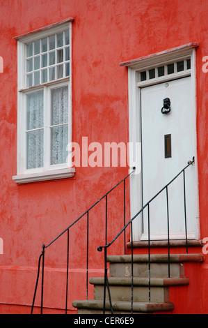 The Tudor facia of a house in the Suffolk village of Lavenham. - Stock Photo