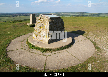 Ivinghoe Beacon, a prominent landmark in the Chiltern Hills marking the starting point of the Ridgeway long-distance - Stock Photo