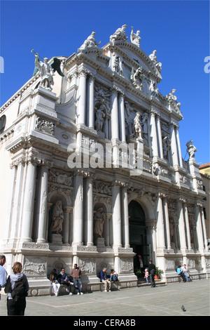 Chiesa di Santa Maria del Giglio, Church of St Mary of the Lily, Venice, Veneto, Italy, Adriatic Sea, Europe - Stock Photo