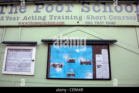 The Poor School drama school in Kings Cross, London - Stock Photo