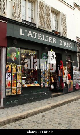 L 39 atelier d 39 art souvenir shop montmartre paris france - Atelier d artiste a vendre paris ...