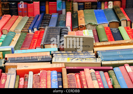 Secondhand books for sale on a stall at Portobello Road Market. - Stock Photo