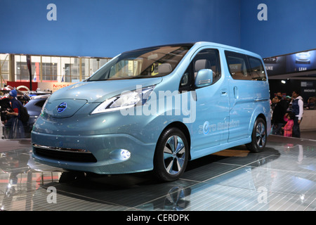 electric car van Nissan e-NV200 Concept NV200 - Stock Photo