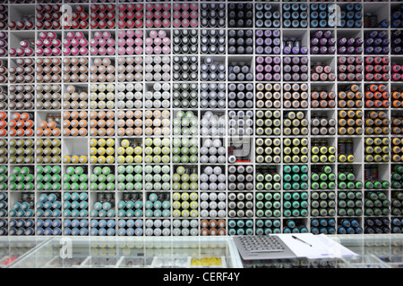 Montana Shop, Gallery and street art graffiti supplies / materials, Lisbon, Portugal - Stock Photo