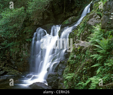 Torc waterfall near Kilarney Town. - Stock Photo