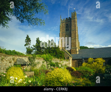 A garden by the church in Dunster. - Stock Photo