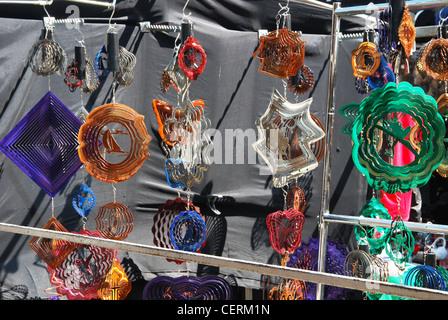 goods on display at Camden Lock Market - Stock Photo