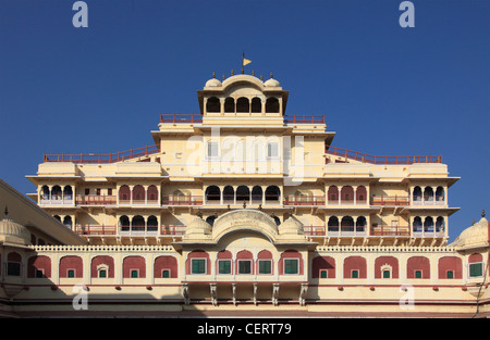India, Rajasthan, Jaipur, City Palace, Chandra Mahal, private palace, - Stock Photo