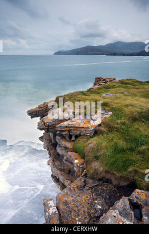 Muckross Head is a small peninsula about 10 km west of Killybegs, - Stock Photo