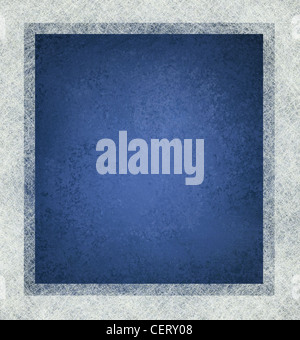 blue background with white frame and lots of texture, blue and white layout design - Stock Photo