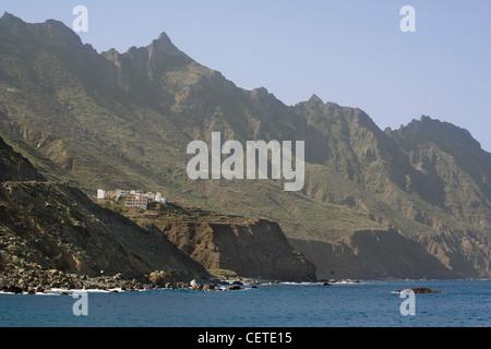 Spain Canary islands Tenerife, Anaga mountains, Roque de las Bodegas - Stock Photo