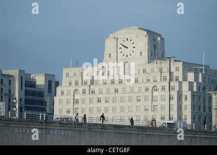Shell Mex House beyond Waterloo Bridge. It was completed in 1930. - Stock Photo