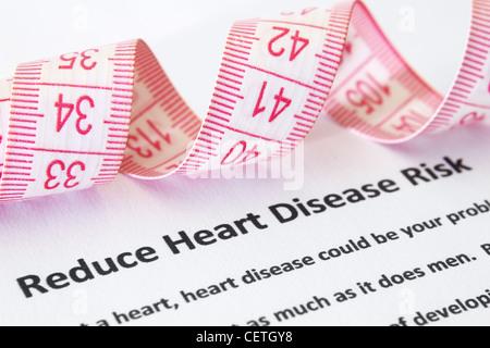 Heart disease risk - Stock Photo