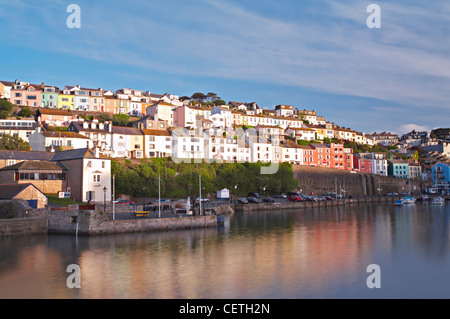 A view of the harbour. In the Middle Ages, Brixham was the largest fishing port in the South-West, and at one time - Stock Photo