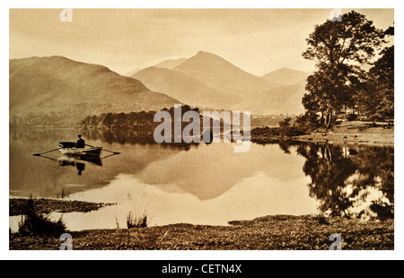 Derwentwater and Causey Pike - Stock Photo