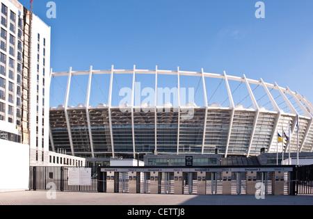 KIEV, UKRAINE - JAN 11: Exterior view of Olympisky Stadium in Kiev on Jan 11, 2012. - Stock Photo