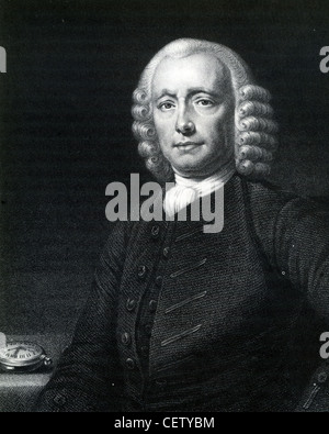 JOHN HARRISON (1693-1776) English carpenter who invented the marine chronometer, here in 1767 - Stock Photo