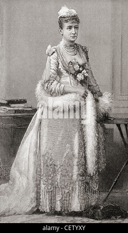 Louise of Hesse-Kassel, 1817 - 1898. German Princess and, from 15 November 1863, queen consort to King Christian IX of Denmark.