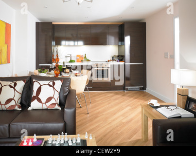 Studio Apartment Open Plan apartment with open floor plan stock photo, royalty free image