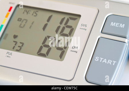 Consumer blood pressure monitor closeup up - Stock Photo