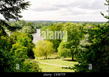 View from Richmond Hill; Blick vom Richmond Hill, London - Stock Photo