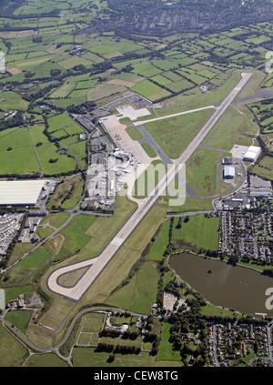 Aerial image of Leeds Bradford Airport - Stock Photo