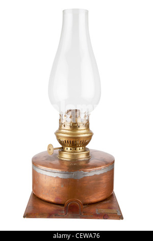 antique kerosene lamp - Stock Photo