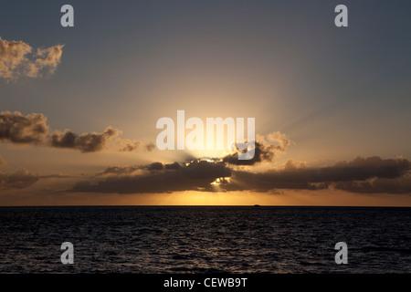 Sunbeams over the Florida Keys, Florida, USA - Stock Photo