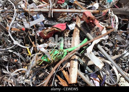Pile of scrap metal, background - Stock Photo