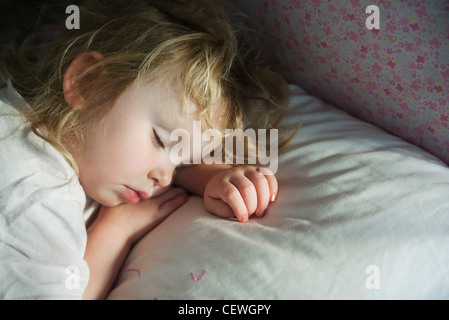 Toddler napping - Stock Photo