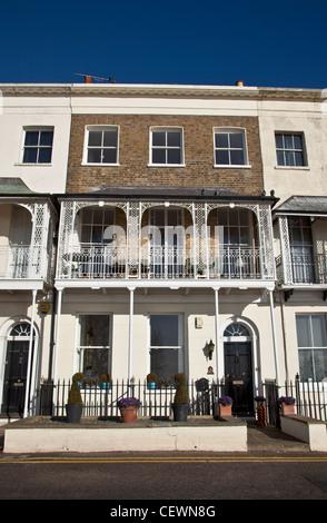 Georgian Terraced House on Royal Terrace, Southend-on-Sea - Stock Photo
