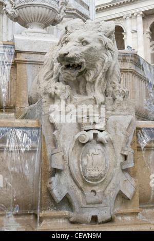 Four bishops fountain, detail - Stock Photo