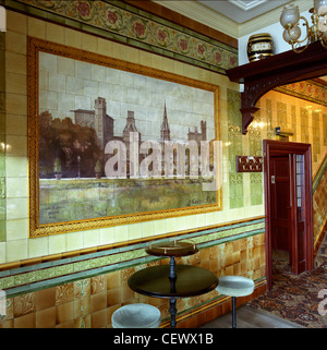 Tiled bar in the golden cross pub cardiff stock photo for Crossing the shallows tile mural