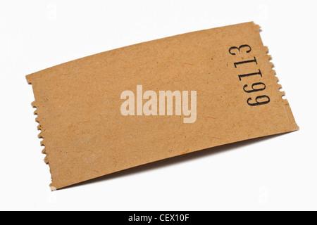 Detailansicht einer Karte aus Papier ohne Aufschrift | Detail photo of a paper card without inscription - Stock Photo