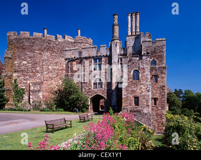 Berkeley Castle, one of the most remarkable buildings in Britain because it has essentially remained a Norman Fortress - Stock Photo
