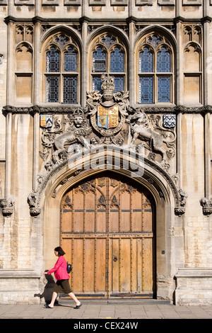 Entrance to Brasenose College, Oxford - Stock Photo