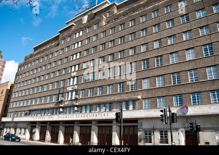 London Fire Brigade headquarters on Albert Embankment, Lambeth, London, UK - Stock Photo