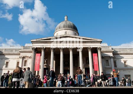 National Gallery, London, UK - Stock Photo