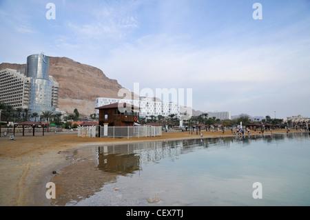 Israel, Dead Sea, Hotel area - Stock Photo